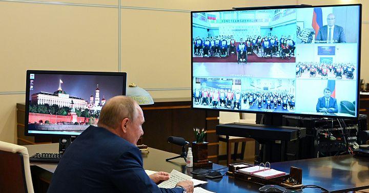 Встреча В.В. Путина и Паралимпийской делегации России.